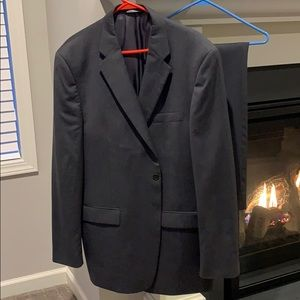 Claiborne 48L/40W Gray with Stripes Suit